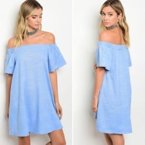 Chambray OTS Dress!! NWT Perfect for Spring!!